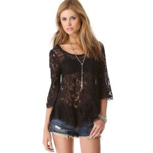 Free People Scallop Lace Top